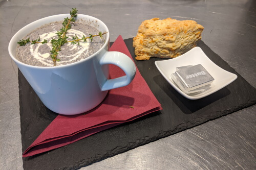 Soup and a scone